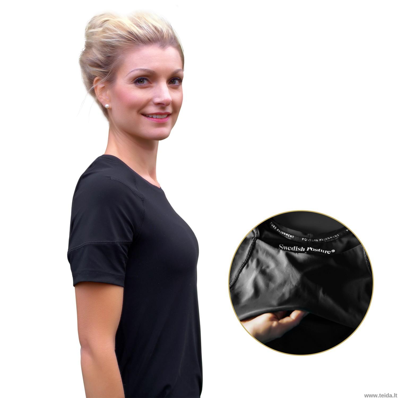 Laikyseną koreguojantys marškinėliai moterims, dydis  XS