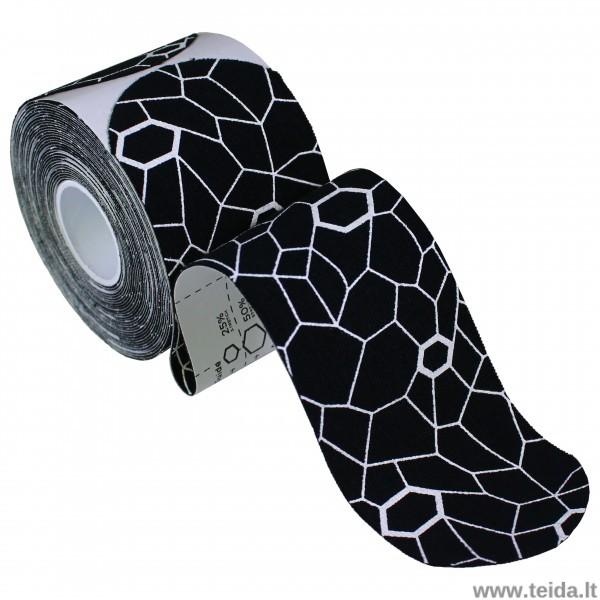 Thera-Band kineziologinis teipas, sukarpytas,5X25.4 cm, 20 vnt, juoda/balta