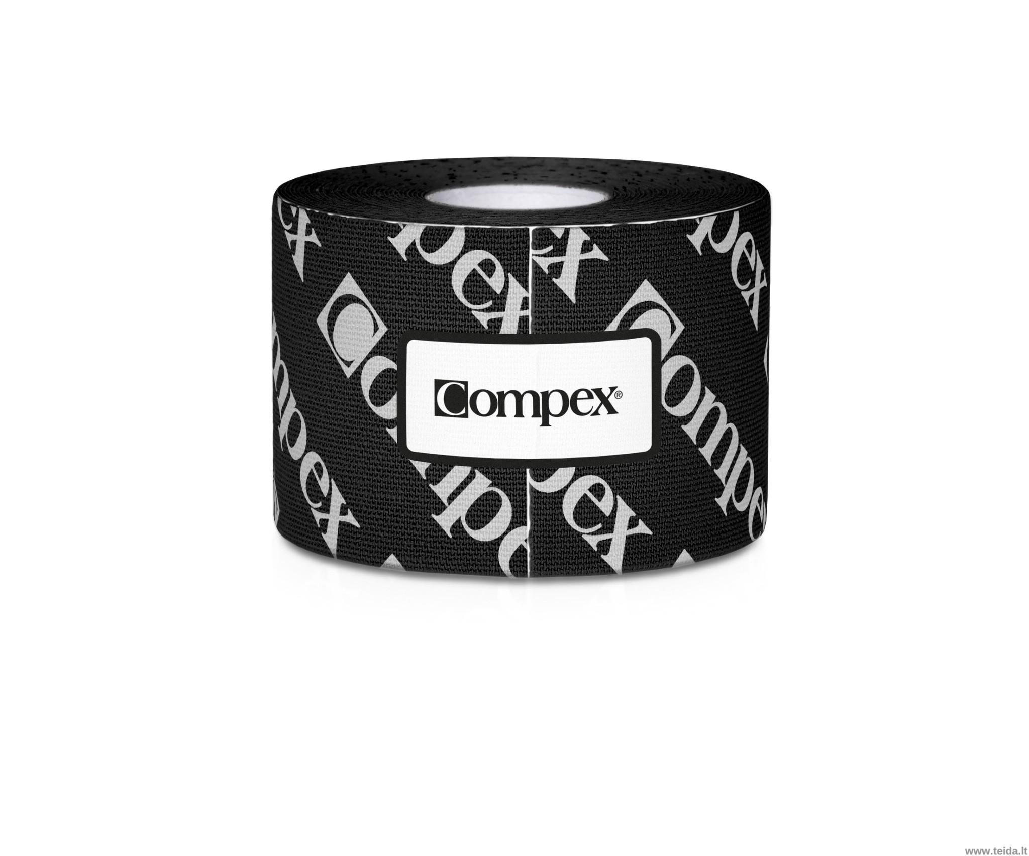 COMPEX kineziologinis teipas, juodas