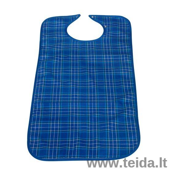 Daugkartinė prijuostė, 45 x 90 cm, mėlyna