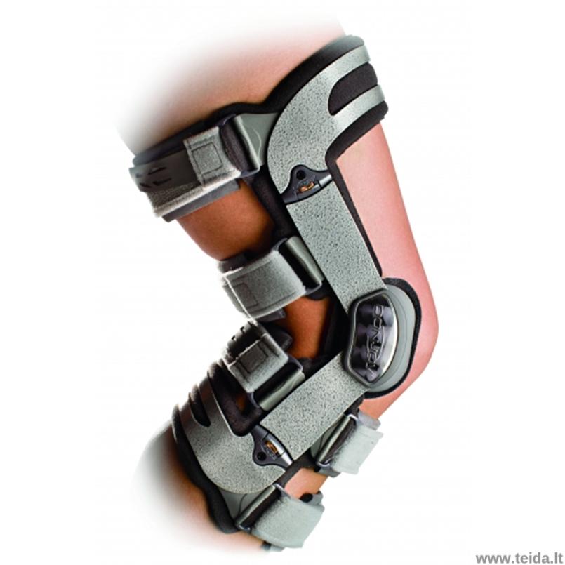 DonJoy kelio osteoartrito įtvaras ADJUSTER 3, išorinis, dešinei kojai, M dydis