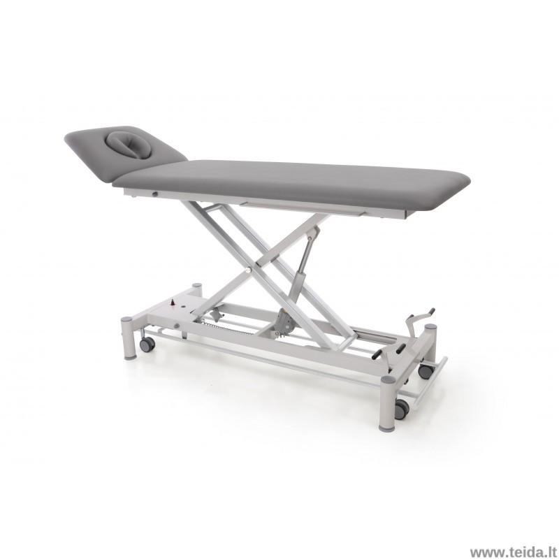 Elektinis 2-jų dalių terapinis stalas su 4 rateliais