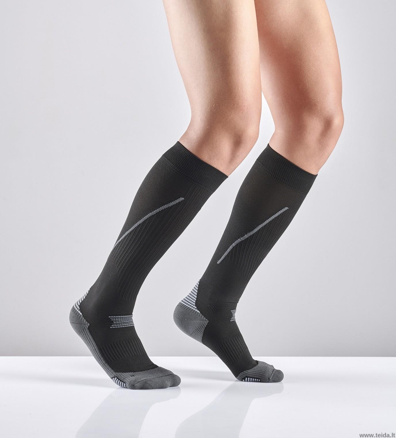 Sportinės kompresinės kojinės, L dydis