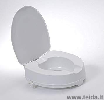 Paaukštinta tualeto sėdynė su dangčiu