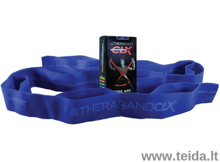 Thera-band juosta su kilpomis CLX, mėlyna
