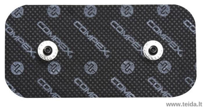 Compex elektrodas su 2 spaustukais, 10x5 cm