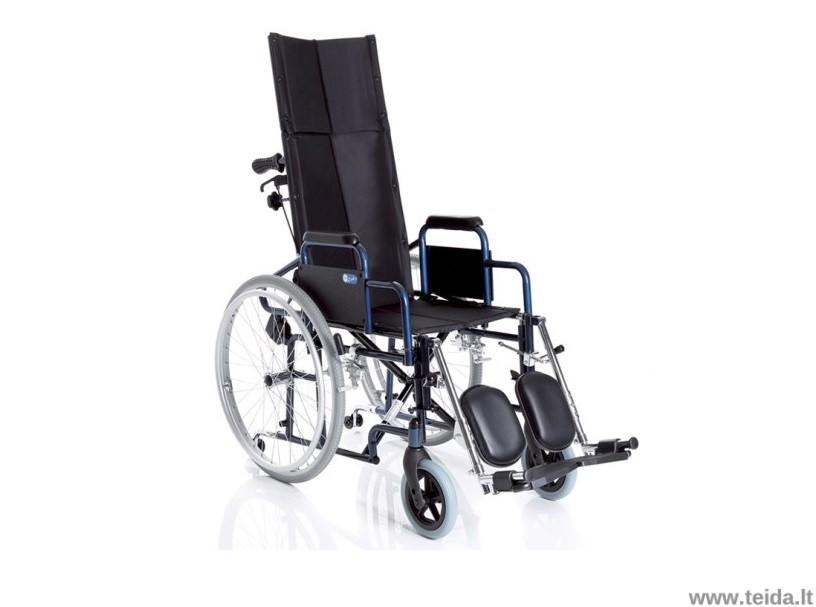 Neįgaliojo vežimėlis aukšta nugaros atrama