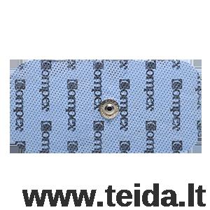 Compex elektrodas su spaustuku, 10x5 cm