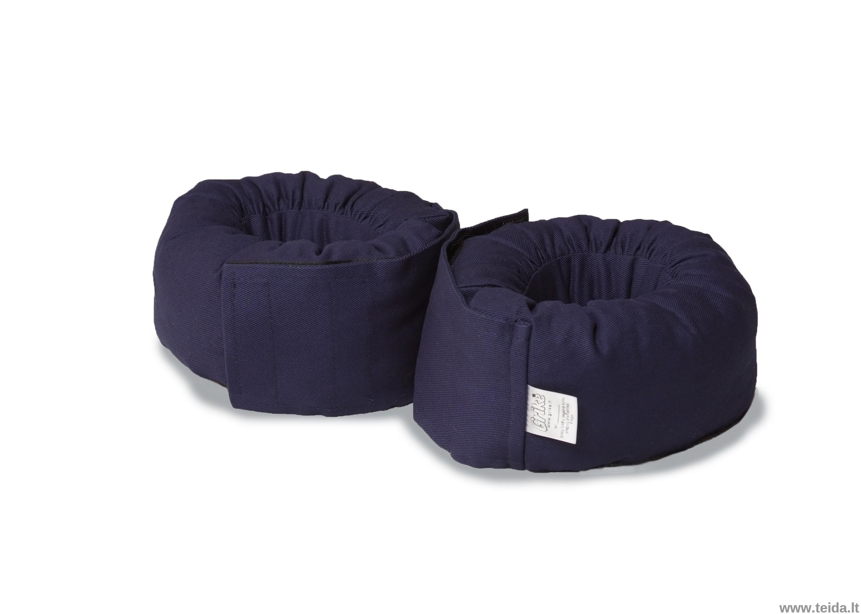 Grikių lukštų pagalvėlės kulnų apsaugai