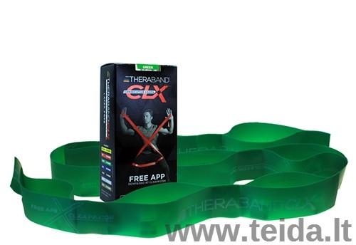 Thera-band juosta su kilpomis CLX, žalia