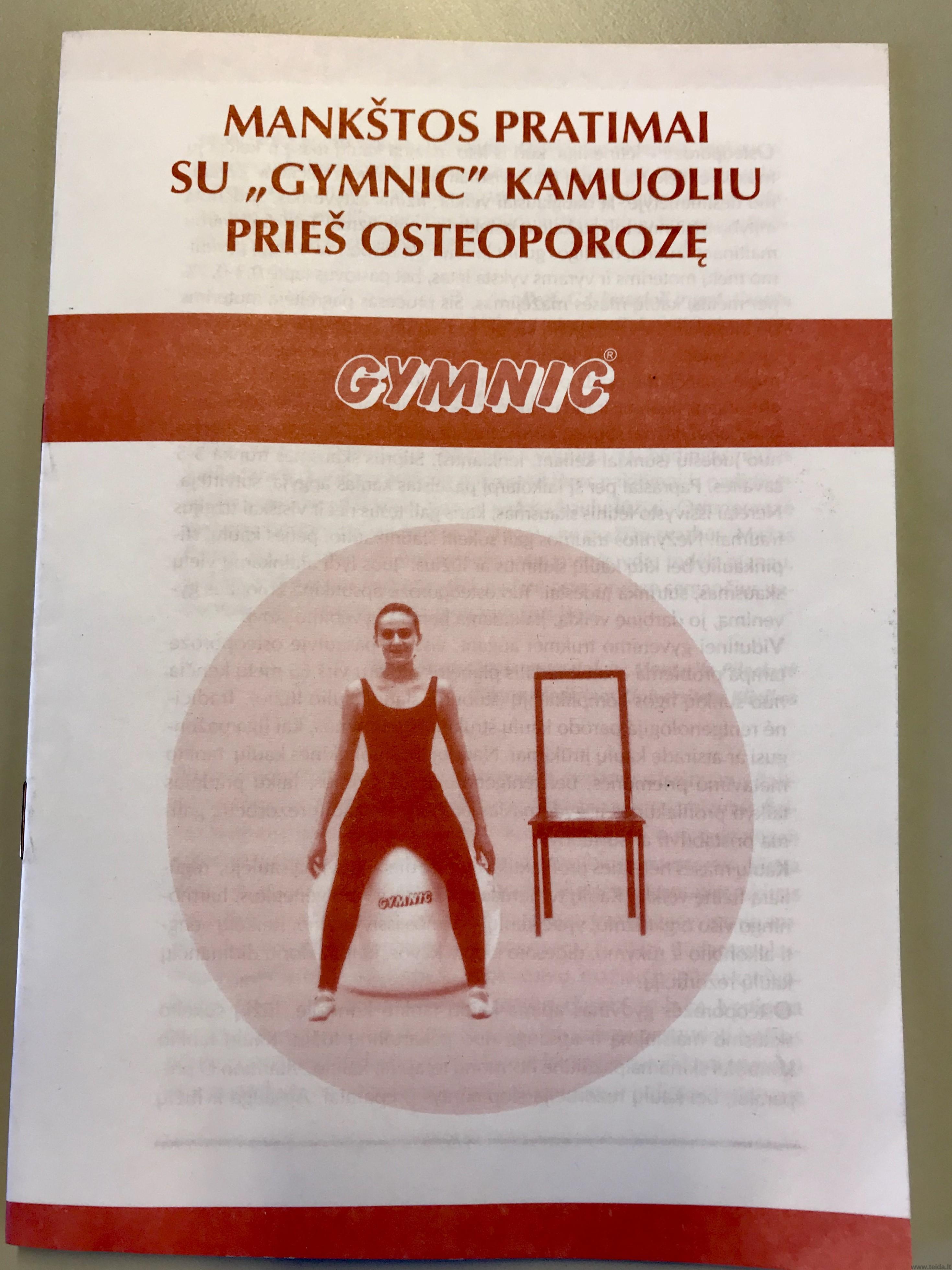 """Knygelė """"Mankštos pratimai prieš osteoporozę"""""""