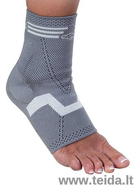 Tekstilinis čiurnos įtvaras Malolax su silikoniniu paminkštinimu, XXL dydis