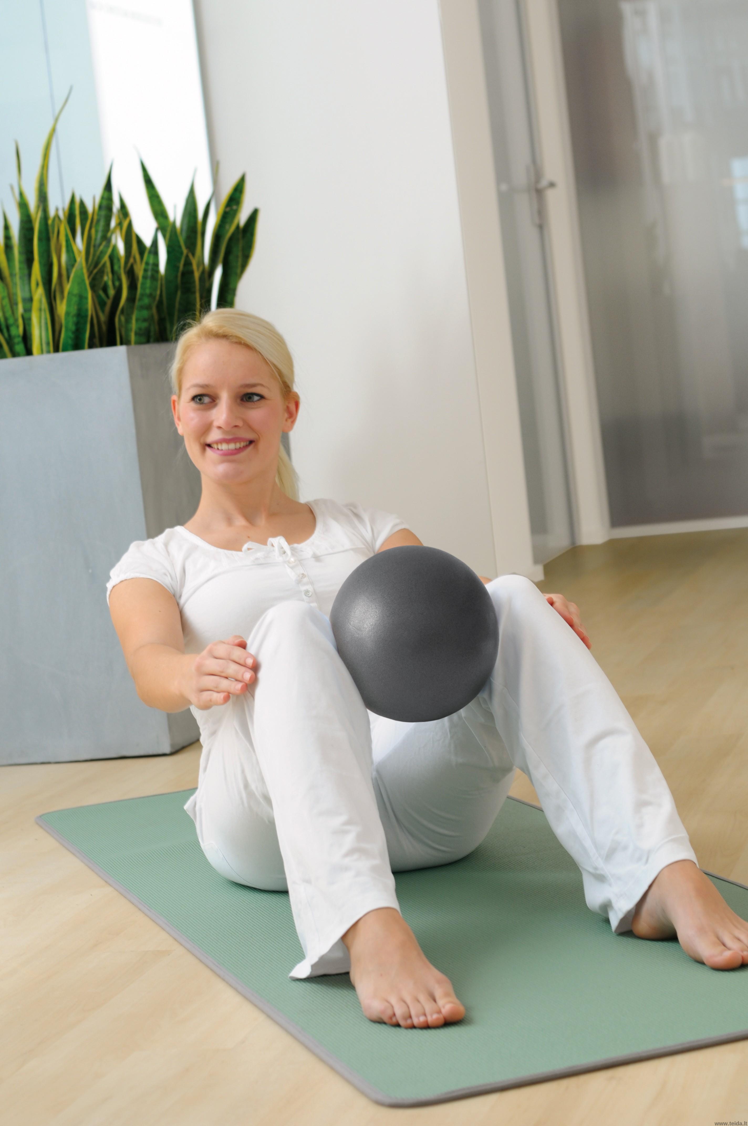 Sissel® Pilates kamuolys, 26 cm pilkas