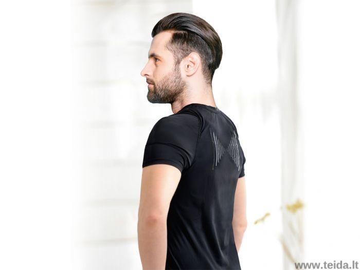 Laikyseną koreguojantys marškinėliai vyrams, dydis L