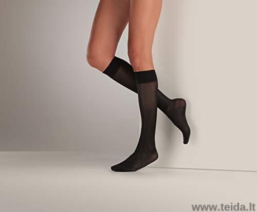 Moteriškos kompresinės kojinės, juodos spalvos, dydis L/XL