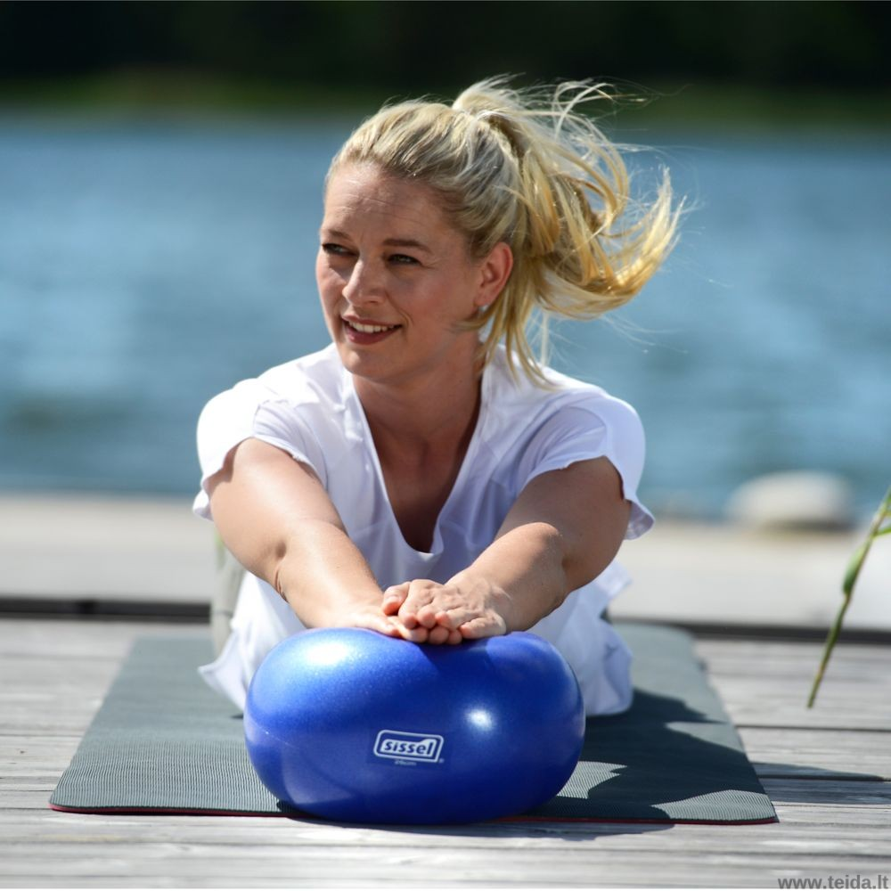 Sissel® Pilates kamuolys, 26 cm mėlynas