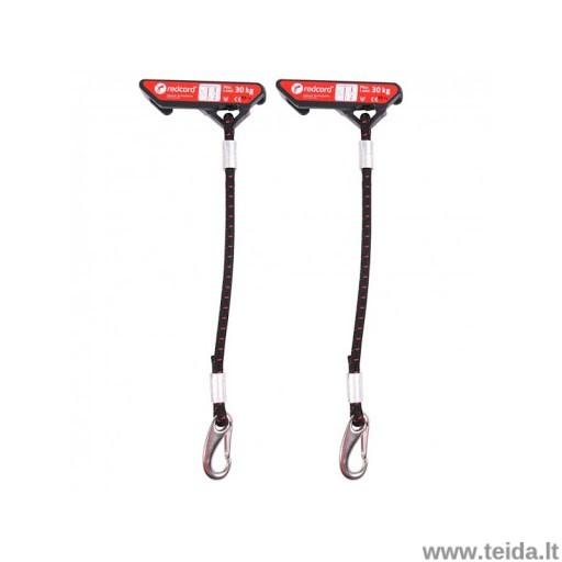 Redcord elastininė virvė su tvirtinimu, 30cm, mažo pasipriešinimo, juoda (pora)