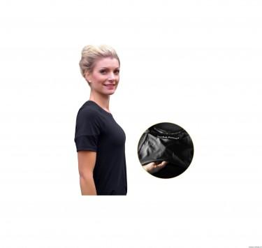 Laikyseną koreguojantys marškinėliai moterims, juodos spalvos, dydis S