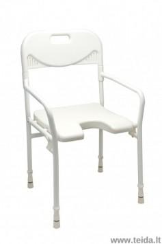 Sulankstoma dušo kėdė su atlošu