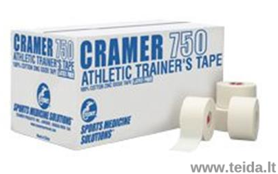 CRAMER atletinis neelastinis teipas CRAMER 750, 3,8cm x 13,7m