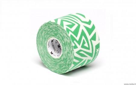 Dream®K Tribe kineziologinis teipas, baltas/žalias (raštuotas)
