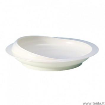 Plastikinė lėkštė su neslystančiu pagrindu