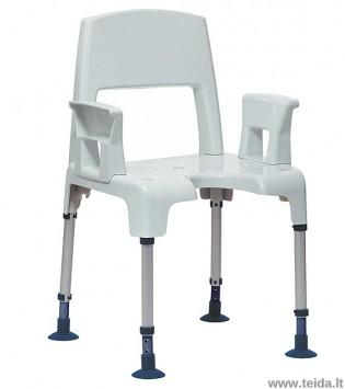 Dušo kėdė INVACARE Pico su nugaros atrama ir porankiais