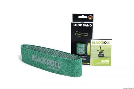 Medžiaginė elastinio pasipriešinimo juosta-kilpa Blackroll®,  žalia