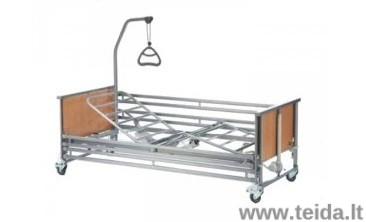 Funkcinė elektrinė slaugos lova INVACARE Medley Ergo, metalinis lovadugnis, metaliniai šoneliai