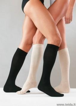 Kompresinės kojinės su medvilne, juodos spalvos, dydis L