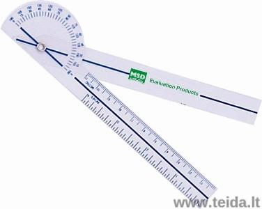 Kišeninis goniometras, 15 cm