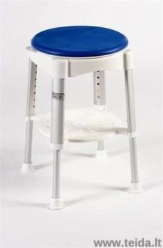 Dušo kėdė su pasisukimo disku