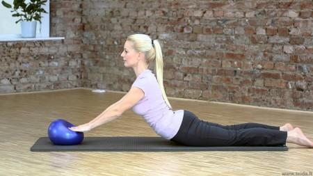Sissel® Pilates kamuolys, 22 cm mėlynas