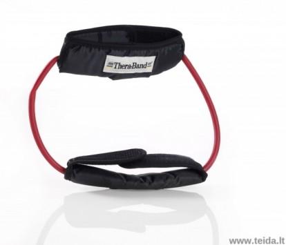 Thera-band apvali elastinė juosta su laikikliais, raudona