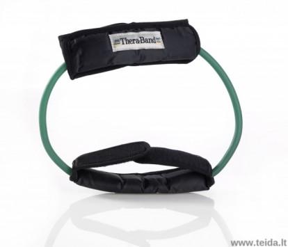 Thera-band apvali elastinė juosta su laikikliais, žalia
