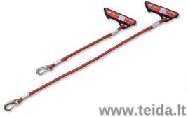 Redcord elastinė virvė su tvirtinimu 30 cm, raudona (pora)