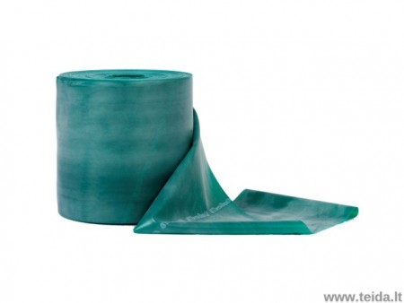 Thera-band elastinė juosta su lateksu, žalia