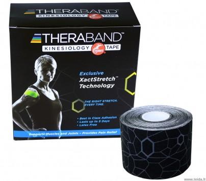 Thera-Band kineziologinis teipas juodas, raštuotas