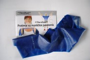 Thera-Band elastinė juosta su lateksu, mėlyna, ilgis 1,8 m