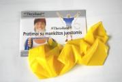 Thera-Band elastinė juosta su lateksu, geltona, ilgis 1,8 m